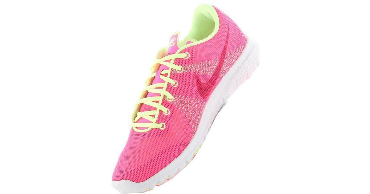 brand new 21feb e8972 Nike Flex Fury Gs Women's Running Trainers In Yellow