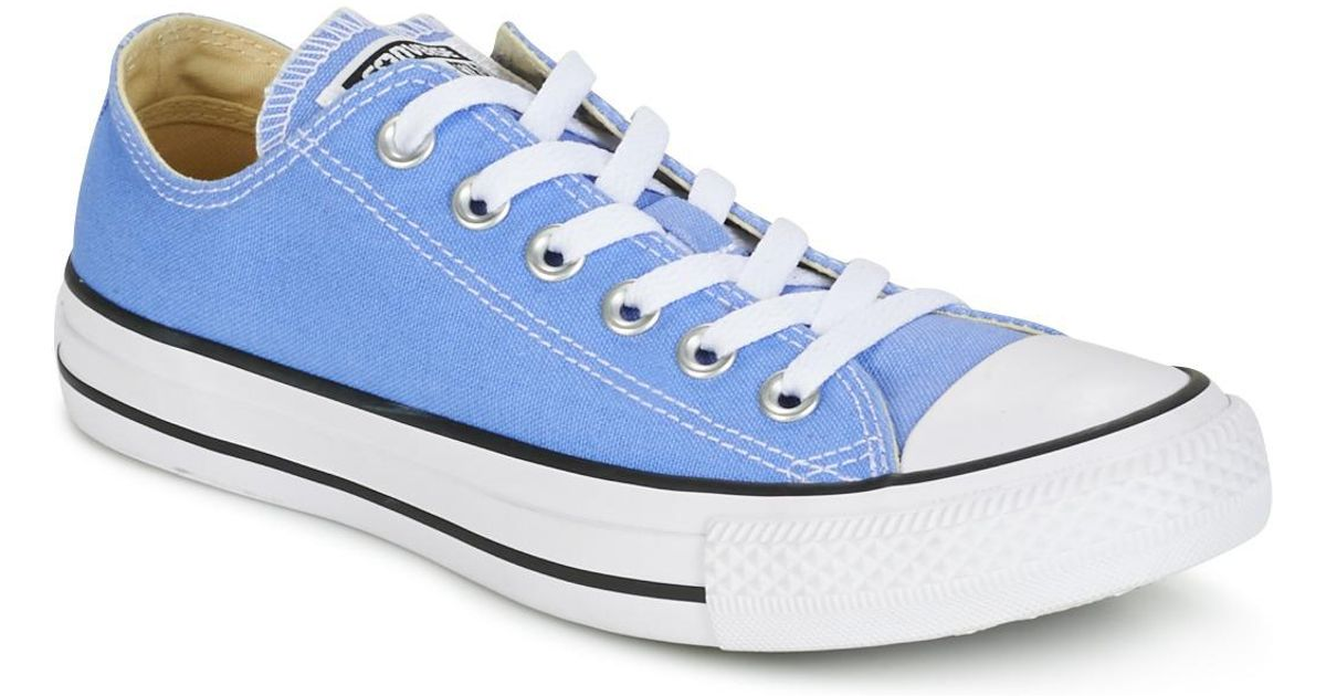 4e394758f3c Converse Chuck Taylor All Star Seasonal Color Ox Pioneer Blue Men s Shoes  (trainers) In Blue in Blue for Men - Lyst