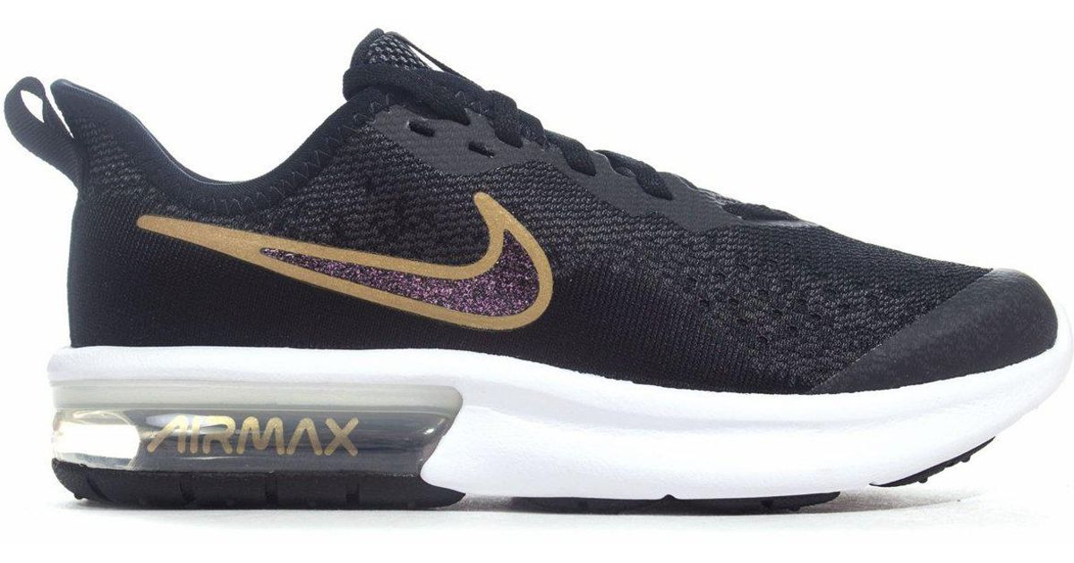 the best attitude db385 17cb4 Nike Air Max Sequent 4 Sh Gs Trainers Black Gold in Black for Men - Lyst