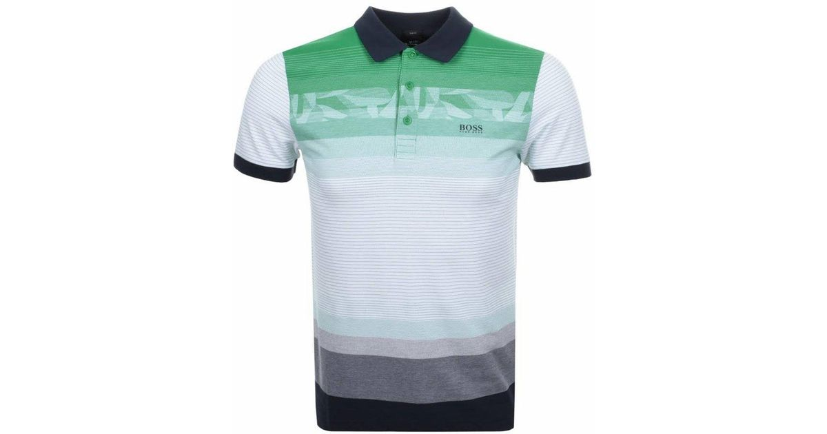 fbea7c772 BOSS Green Paule 6 Short Sleeves Polo Shirt Green in Green for Men - Lyst