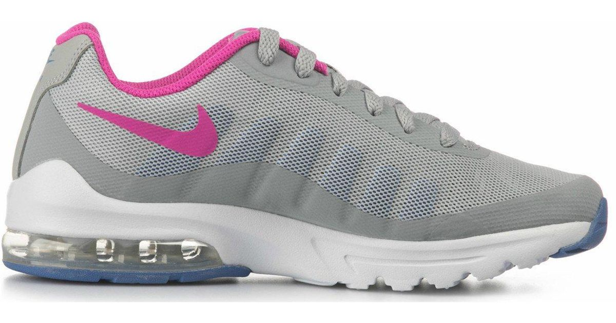 Nike Gray Air Max Invigor Gs Wolf Grey Pink Trainers