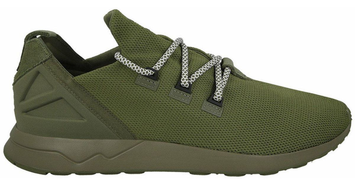 lowest price 4550f a890a Adidas Green Originals Zx Flux Adv X Olive Cargo Trainers for men