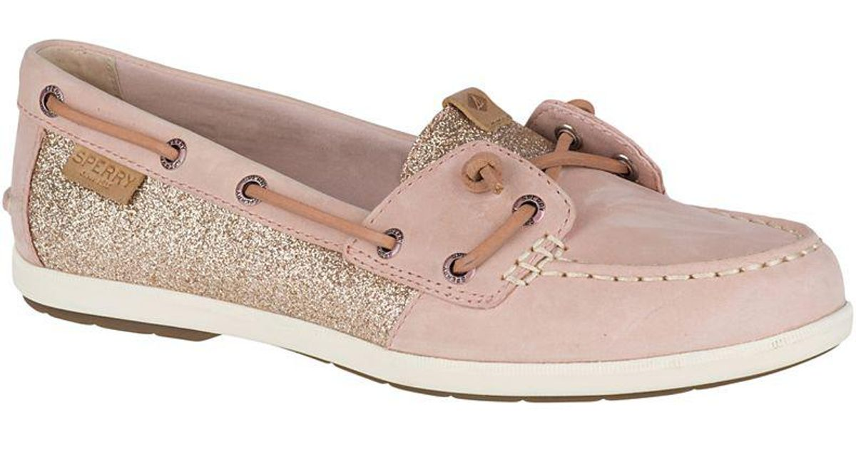 b7384b08e100 Sperry Top-Sider Women's Coil Ivy Sparkle Boat Shoe in Pink - Lyst