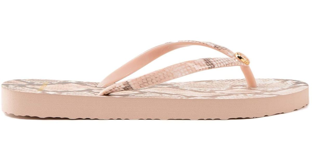 Tory Burch Printed Thin Flip Flop In Pink - Lyst-8958