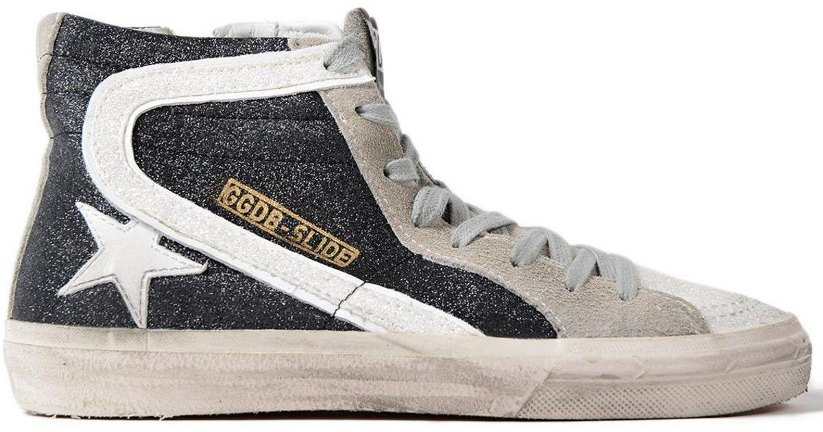 45c0e6ad6aee8 Lyst - Golden Goose Deluxe Brand Sneakers Slide Glitter-white Star in Black  for Men