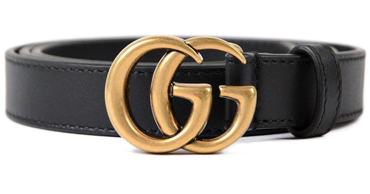 b5614bc12 Lyst - Gucci W Gg Marmont Belt 20mm in Black