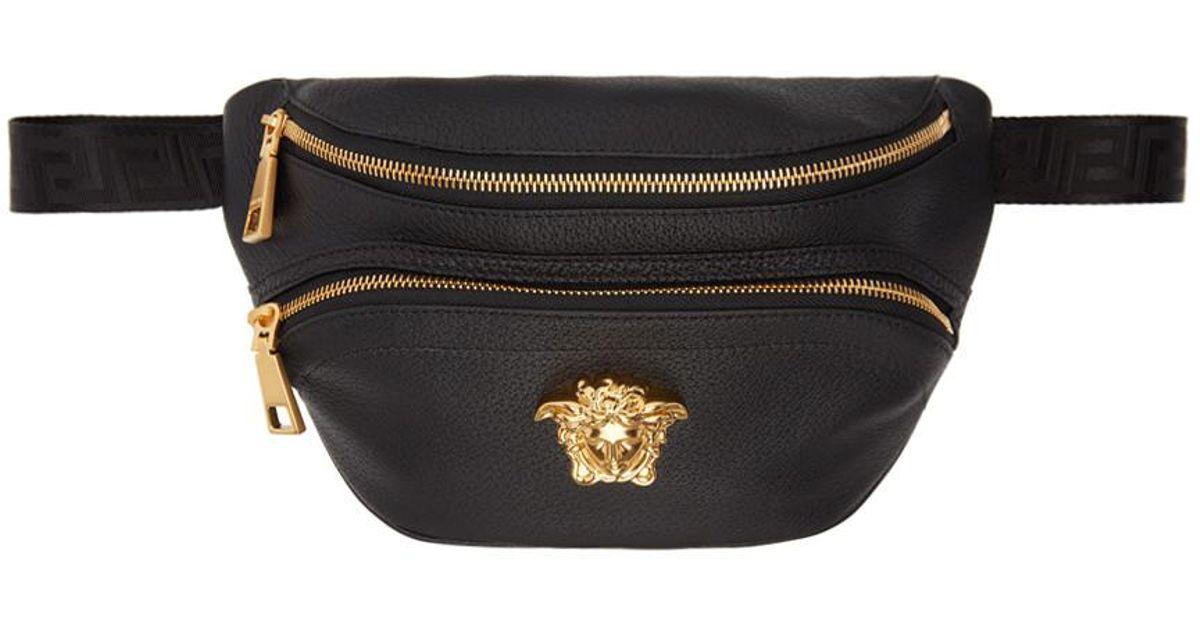 Lyst - Pochette ceinture en cuir noire Medusa Versace pour homme en coloris  Noir 798336cac56e