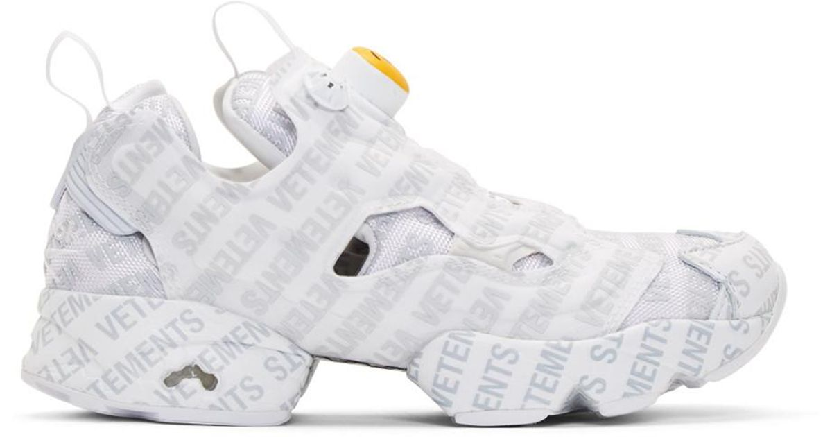 Vetements X Reebok Logo Instapump Fury Sneakers in White for Men - Save 69%  - Lyst ba72d7ef3