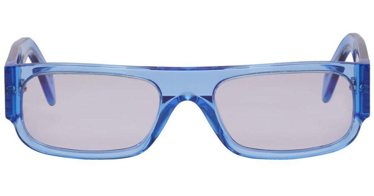 599415b639de Lyst - Retrosuperfuture Blue Smile Sunglasses in Blue for Men