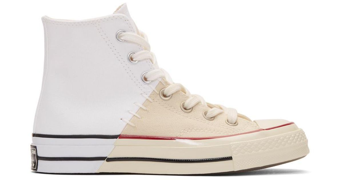 f7f3d83aa1 Converse White Restructured Chuck 70 High-top Sneakers in White - Lyst