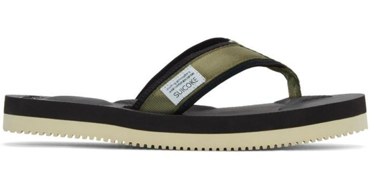 e987758bbfbd Lyst - Suicoke Green Tono V2 Flip Flop Sandals in Green for Men