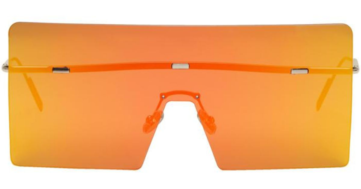 1c652f49fa4 Lyst - Dior Silver And Orange Har Shield Sunglasses in Metallic