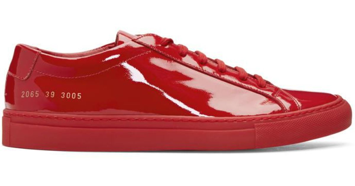 367c341f988e Lyst - Common Projects Red Achilles Low Gloss Sneakers in Red for Men