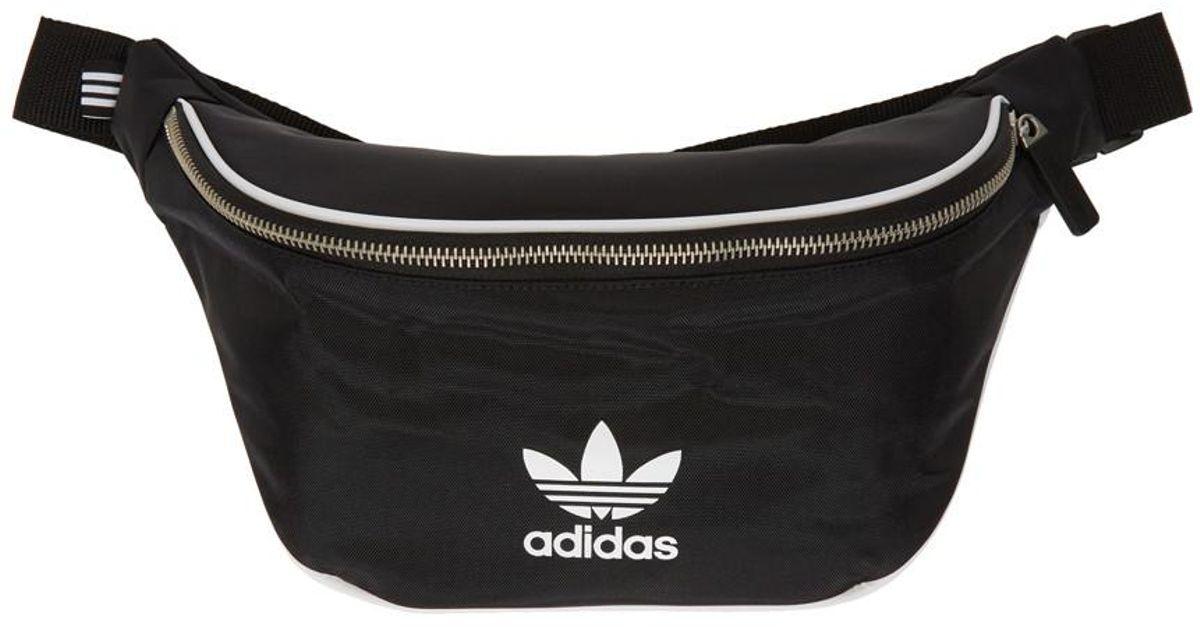 Adidas Originals Black Logo Waist Bag For Men
