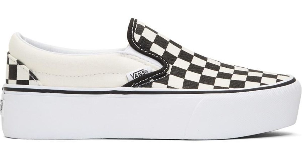 Vans Multicolor Black And Off-white Checkerboard Classic Platform Slip-on  Sneakers
