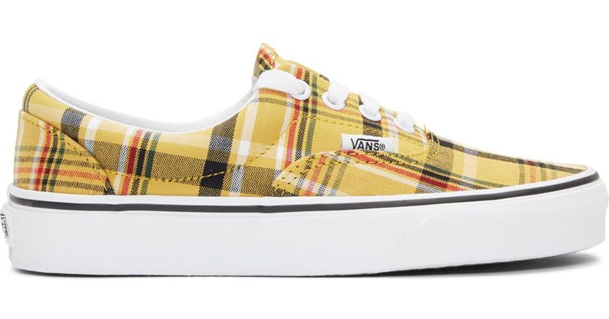 Vans Canvas Yellow Plaid Era Sneakers