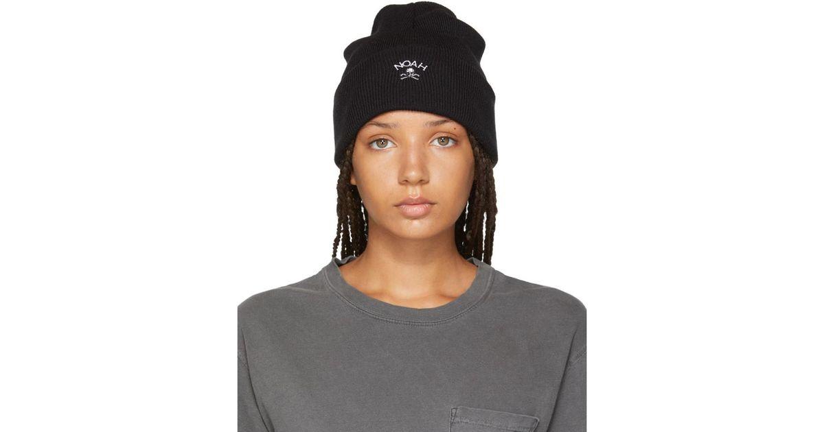 Lyst - Noah Black Jolly Roger Work Beanie in Black b331fc81071