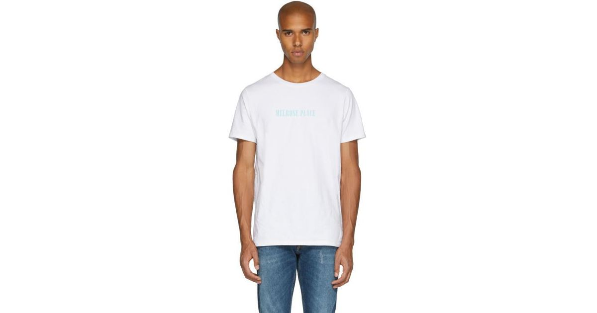 A p c white 39 melrose place 39 t shirt in white for men for Apc white t shirt