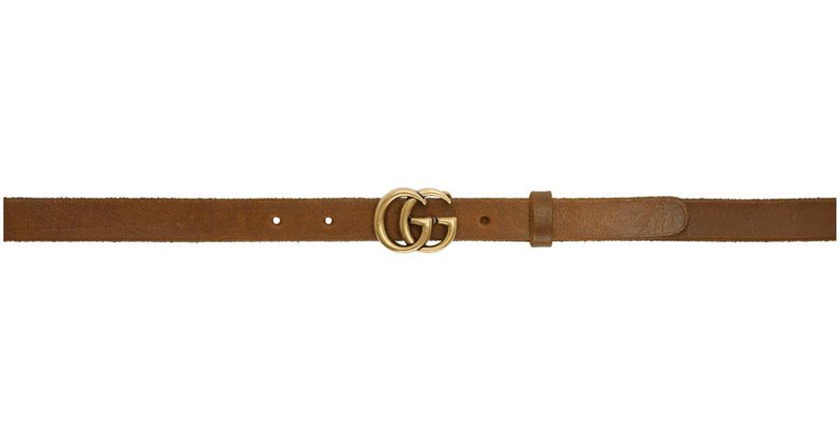 Brown GG Toscano Belt Gucci 6um7437O