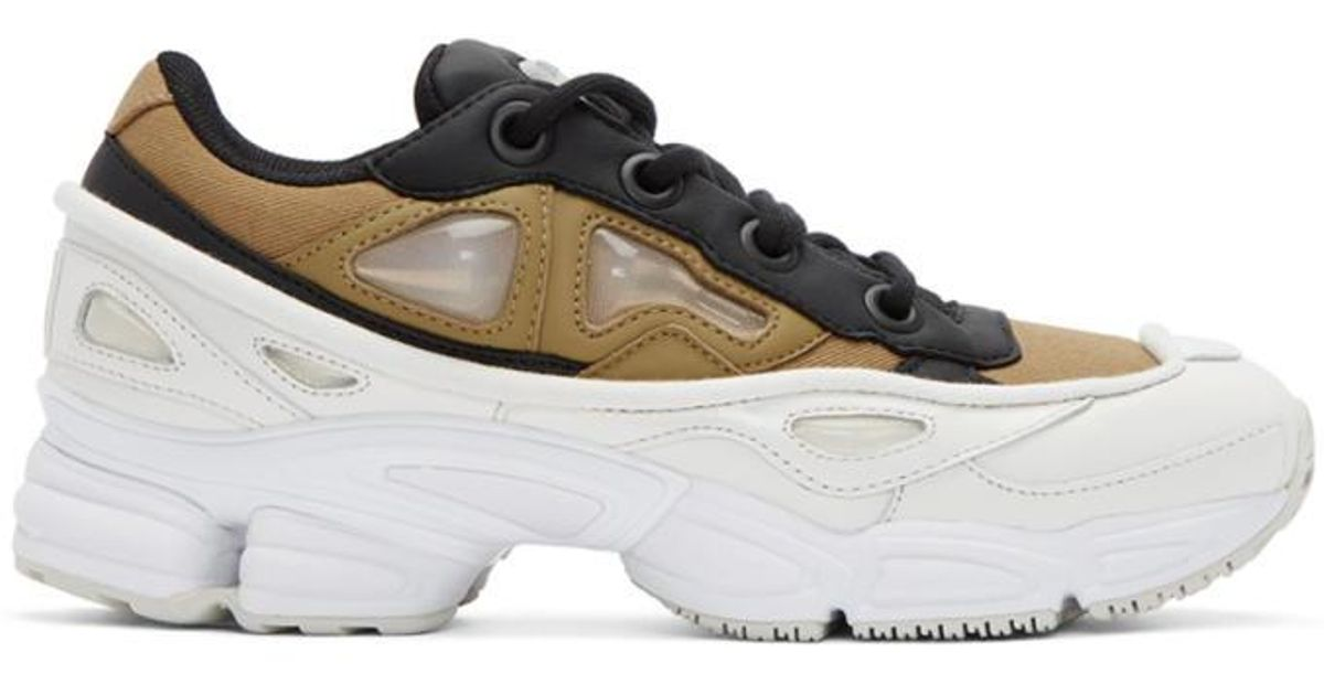 various design hot product cheap for discount Raf Simons Multicolor Khaki & White Adidas Originals Edition Ozweego Iii  Sneakers for men