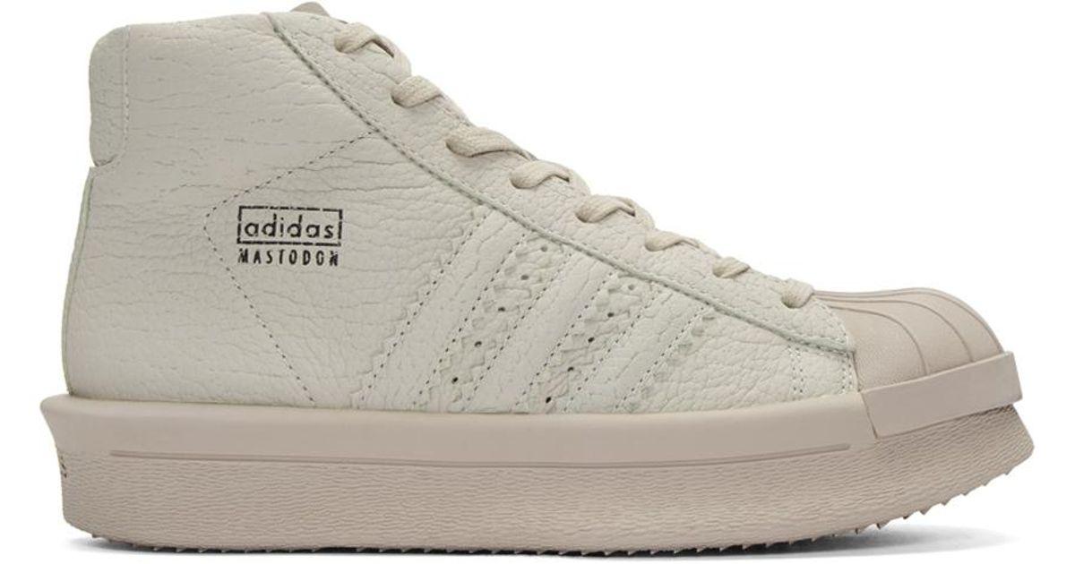 12915fda63b88 Rick Owens Grey Adidas Edition Mastodon Pro Sneakers in Gray for Men - Lyst