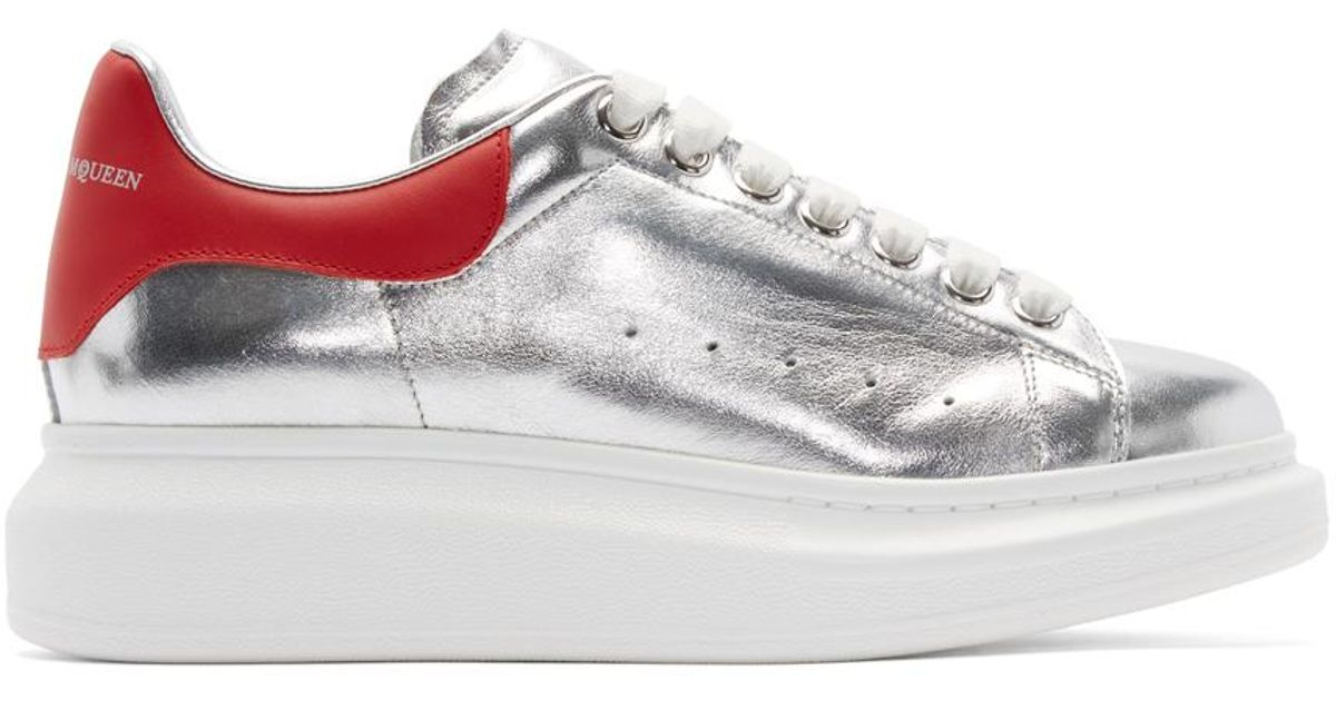 Alexander McQueen Silver \u0026 Red Leather