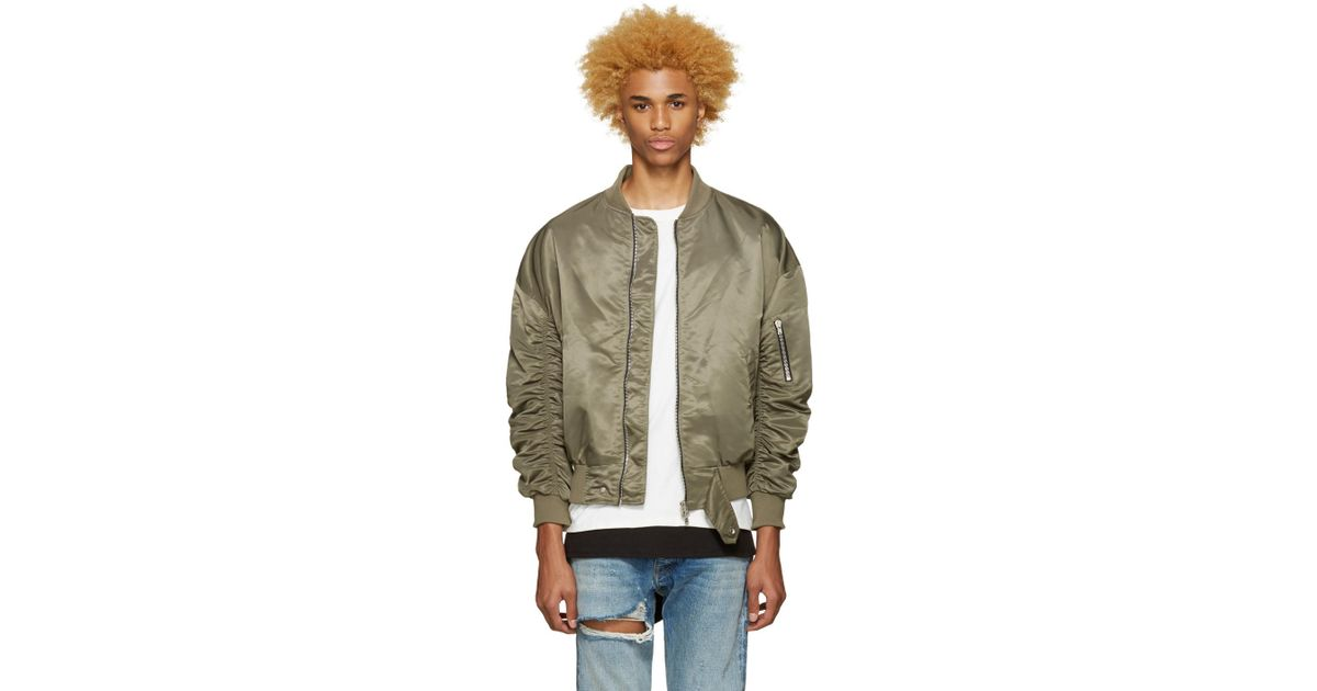 80832580c Fear Of God Ssense Exclusive Green 4th Collection Bomber Jacket for men