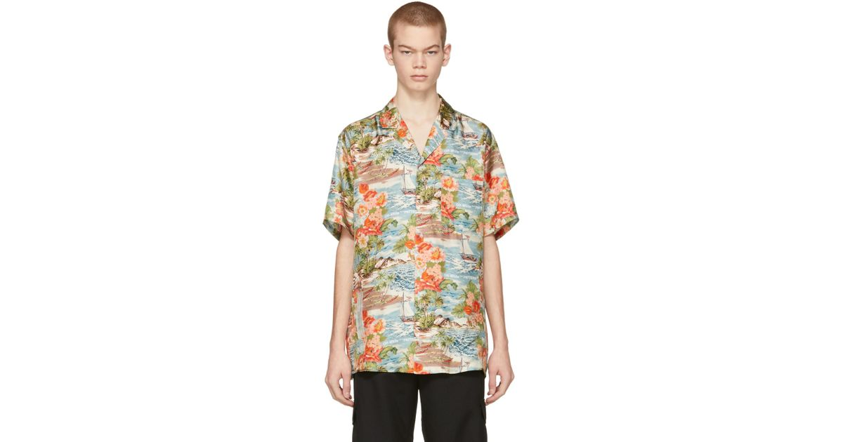 6e1b4c3a Off-White c/o Virgil Abloh Multicolor Silk Hawaiian Shirt for Men - Lyst