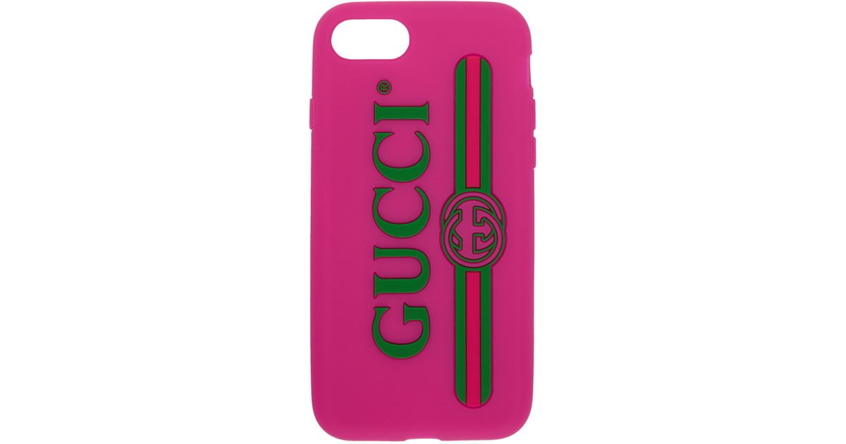 Pink Vintage Logo iPhone 7 Case Gucci