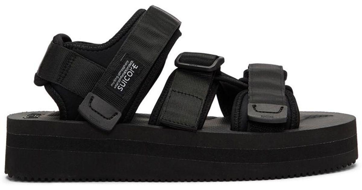 825b9c83b39 Lyst - Suicoke Black Kisee-vpo Platform Sandals in Black for Men