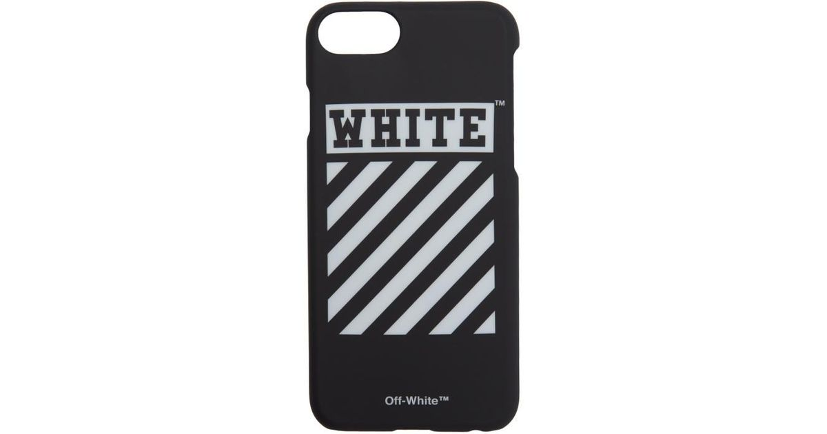 separation shoes ae6e9 bab1a Off-White c/o Virgil Abloh Black Diagonal Iphone 7 Case