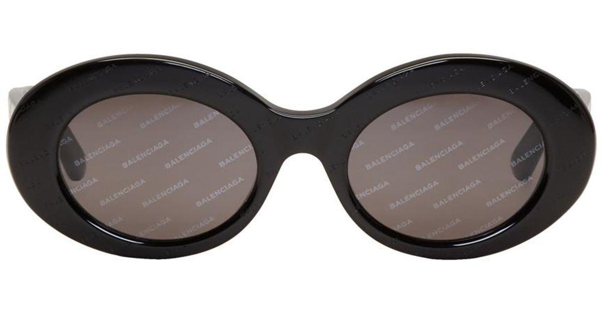 520882b8c0f04 Lyst - Lunettes de soleil noires Logomania Balenciaga en coloris Noir