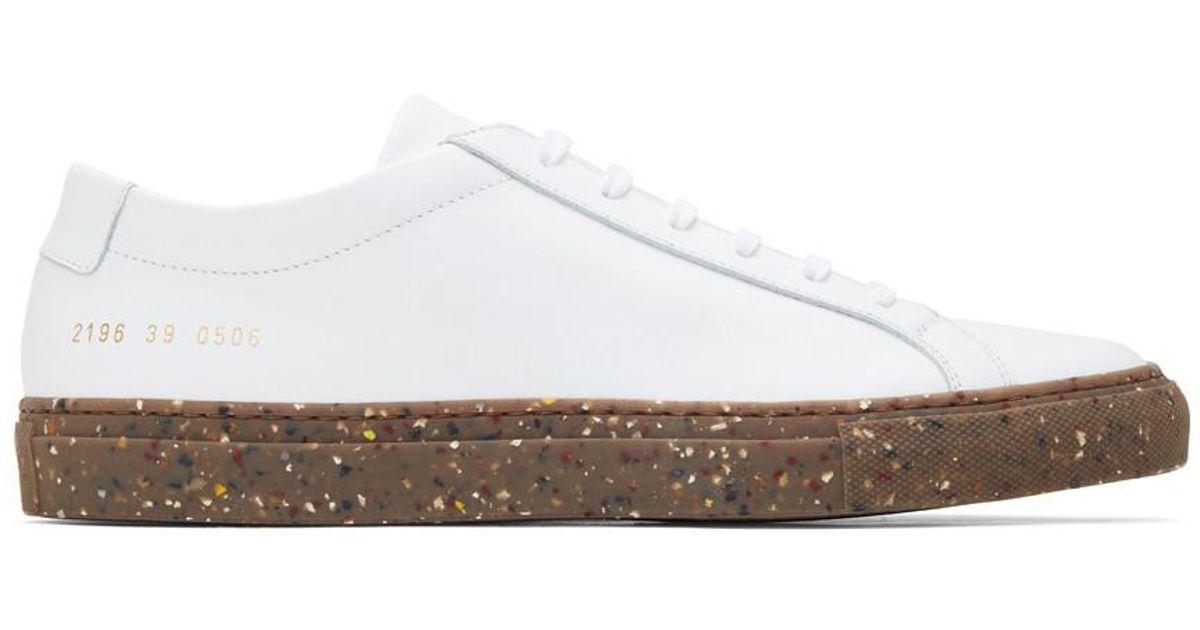 White Confetti Achilles Low Sneakers