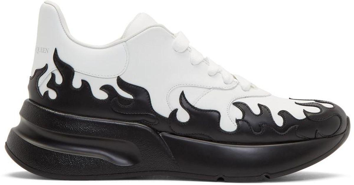 Black Flames Oversized Runner Sneakers