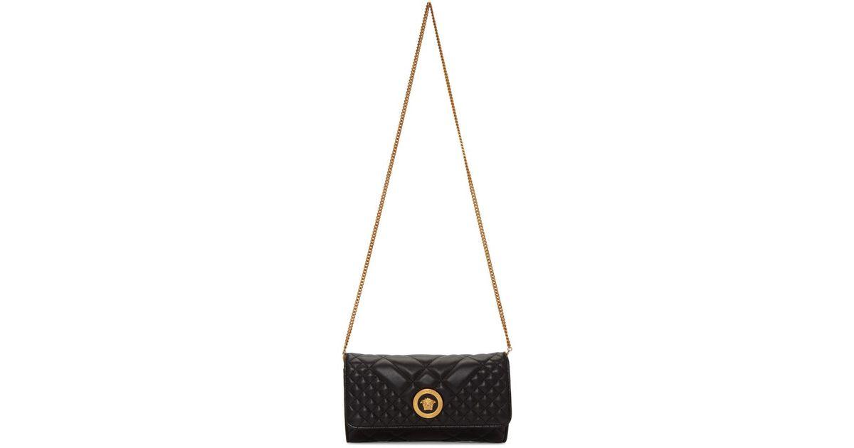 Lyst - Versace Black Quilted Medusa Tribute Evening Bag in Black e10da32511e24