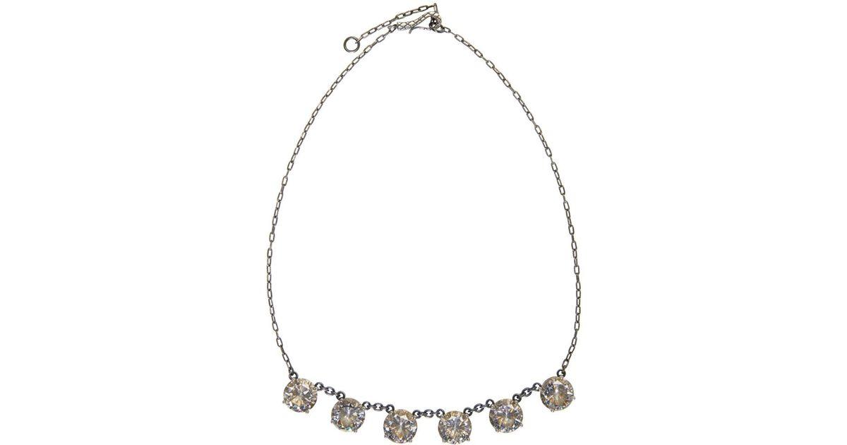 Stellular chalcopyrite and cubic-zirconia necklace Bottega Veneta 9LynQ