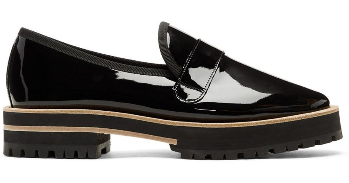 Repetto Black Gaylor Lug Sole Loafers discount classic pHeWLp