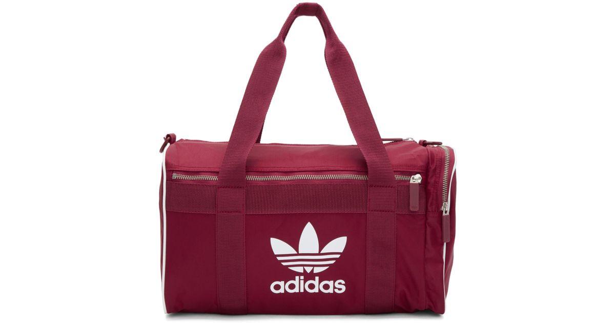 e711497f4c Lyst - adidas Originals Burgundy Medium Duffle Bag