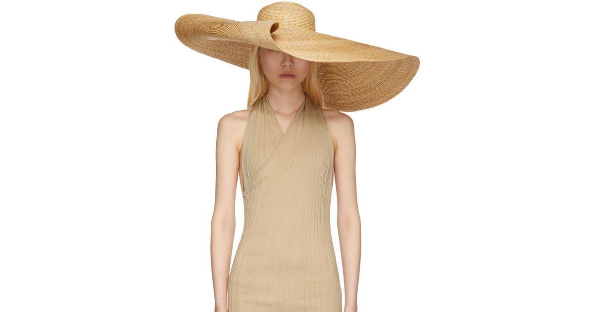 99b401bf65975 Chapeau beige Le Chapeau Bomba Jacquemus en coloris Neutre - Lyst