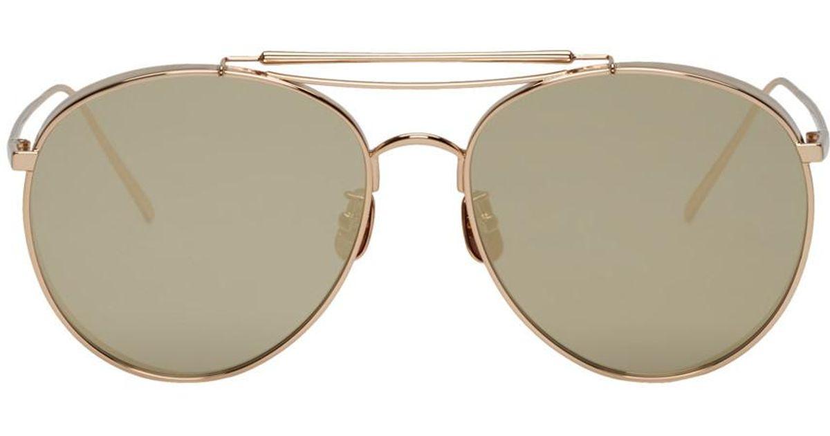7cb32529e62 Lyst - Gentle Monster Gold Big Bully Sunglasses for Men