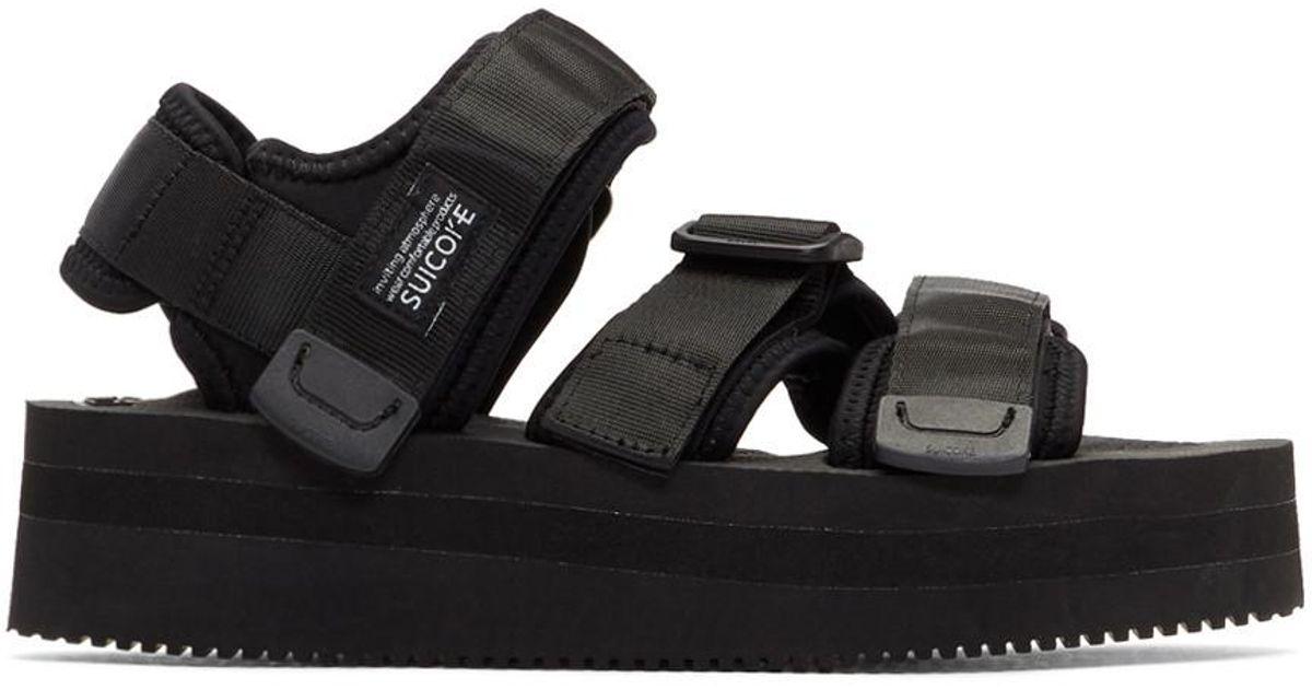 7789bdafc11 Lyst - Suicoke Touch-strap Platform Sandals in Black - Save 14%