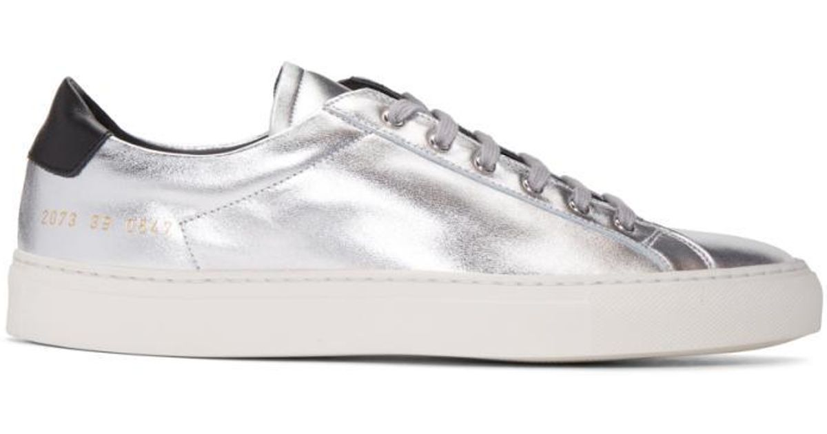 Silver Achilles Retro Low Sneakers Common Projects mAlHNq