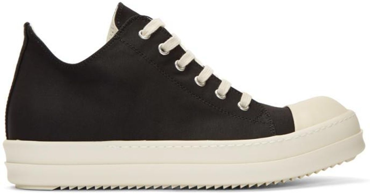 Rick Owens Nylon Canvas Cap Toe Sneakers