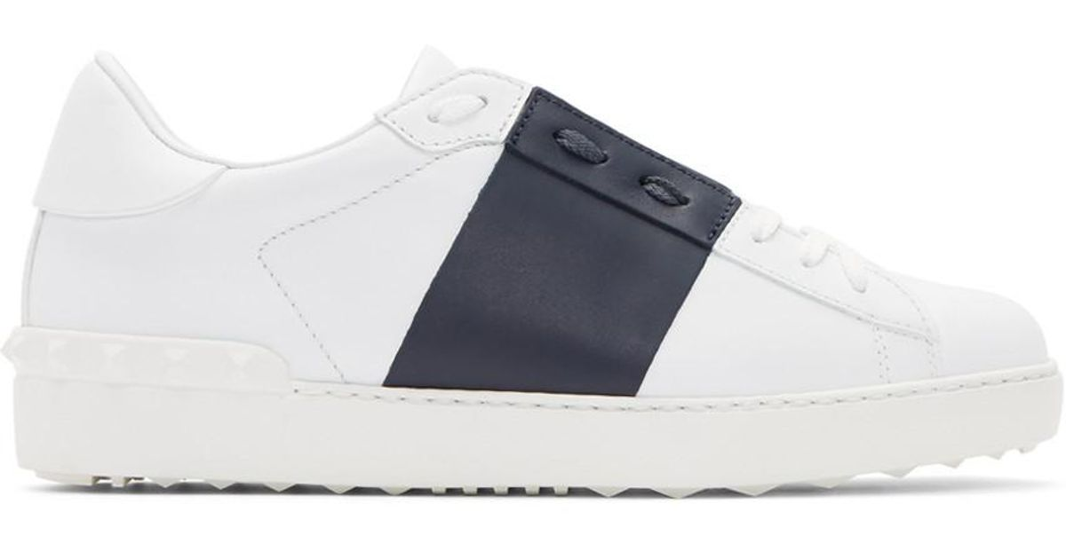 Valentino & Navy Garavani Open Sneakers mcEhfZSevT