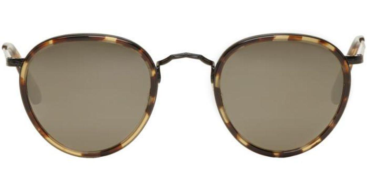 e194a81dc41 Lyst - Oliver Peoples Tortoiseshell Vintage Mp-2 Sunglasses for Men