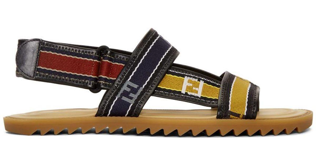 Fendi Multicolor 'Forever ' Strap Sandals skt1oxc1Z