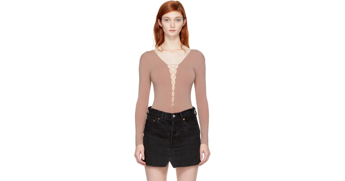 Buy Authentic Online Nicekicks Online Pink Bungee Lacing Bodysuit Alexander Wang Cheap The Cheapest Ofl5hKF