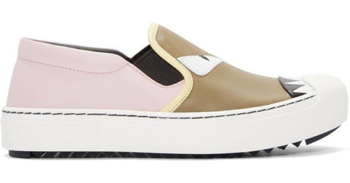 on sale 55abf 9cb31 fendi-multicolor-Multicolor-Bag-Bugs-Slip-on-Sneakers.jpeg