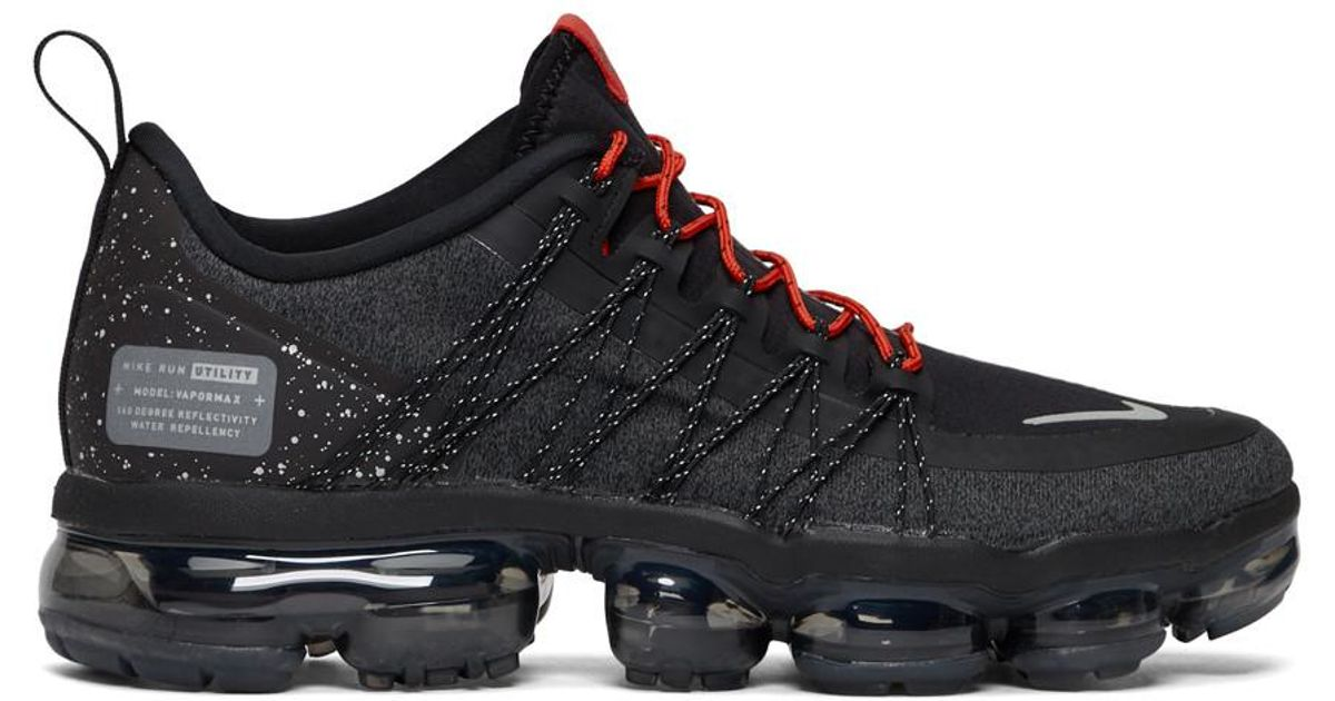 7943bed31c Nike Black And Red Air Vapormax Run Utility Sneakers in Black for Men - Lyst