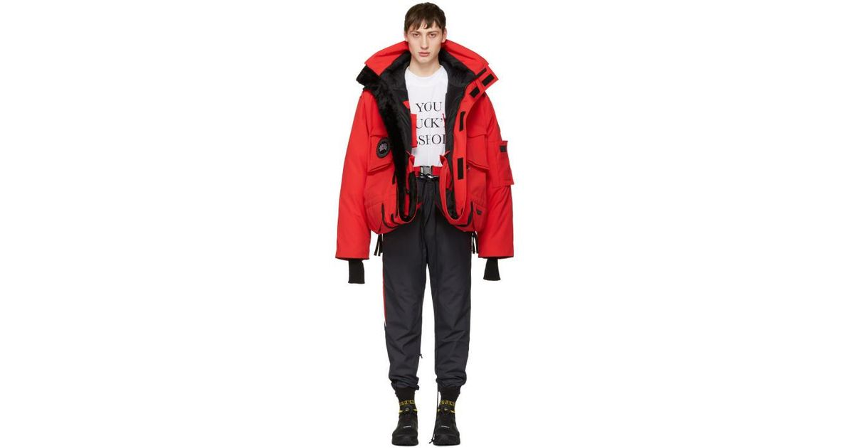 bb3dedb8a7b Vetements Red Canada Goose Edition Down Parka for men